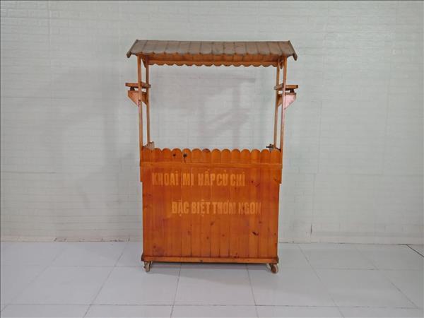 Xe bán hàng gỗ thông cũ SP009531