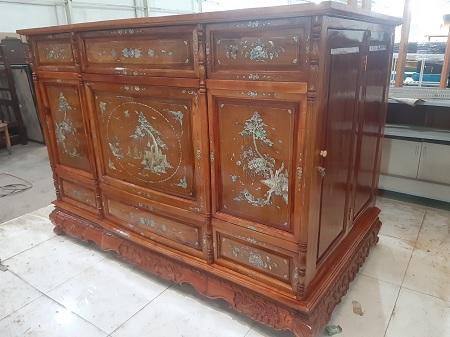 Tủ thờ gỗ Hương  cũ SP013851