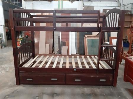 Giường tầng gỗ tự nhiên cũ SP013771