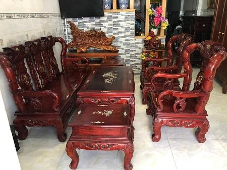 Bộ sofa gỗ  cũ SP013919