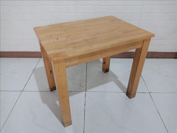 Bàn cafe gỗ cao su cũ SP009899