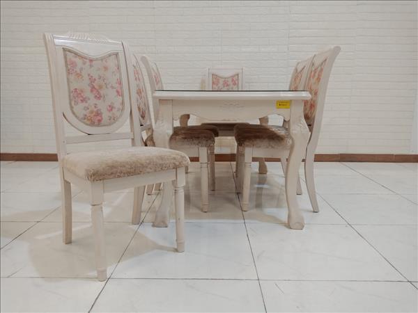 Bộ bàn ăn gỗ cao su ARN cũ SP009965