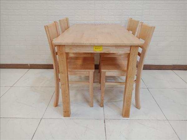 Bộ bàn ăn gỗ cao su cũ SP009729