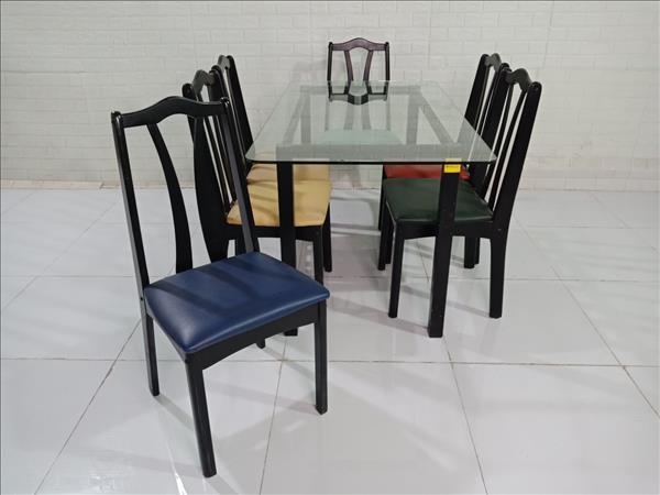 Bộ bàn ăn gỗ cao su cũ SP009895
