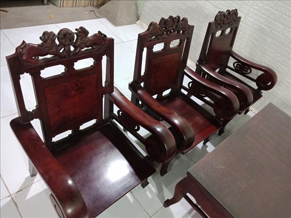 Bộ sofa gỗ Cẩm lai cũ SP009872