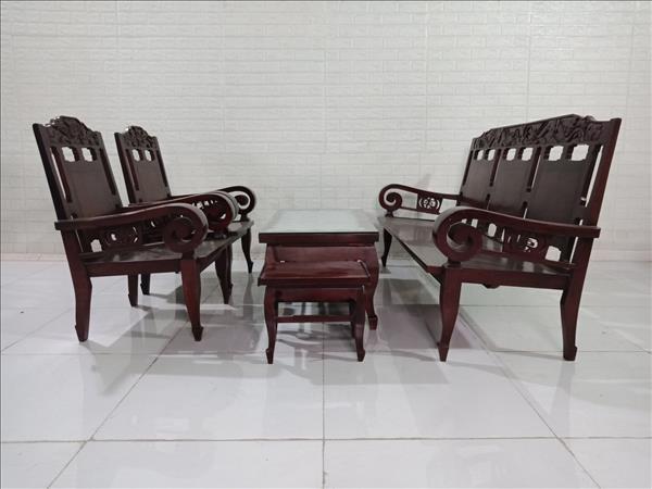 Bộ sofa gỗ Cẩm lai + Hương cũ SP009853