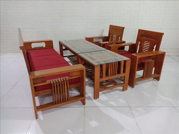 Bộ sofa gỗ Sồi cũ SP009956