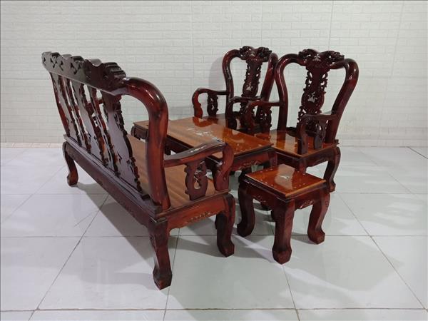 Bộ sofa gỗ Tràm + Xoan đào cũ SP009953