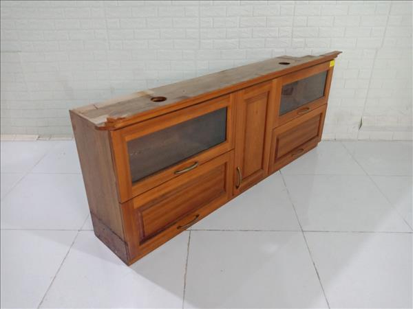 Kệ bếp trên gỗ Xoan đào cũ SP009781