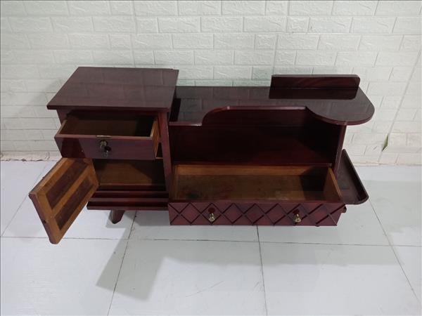 Kệ tivi gỗ Gõ đỏ cũ SP009854