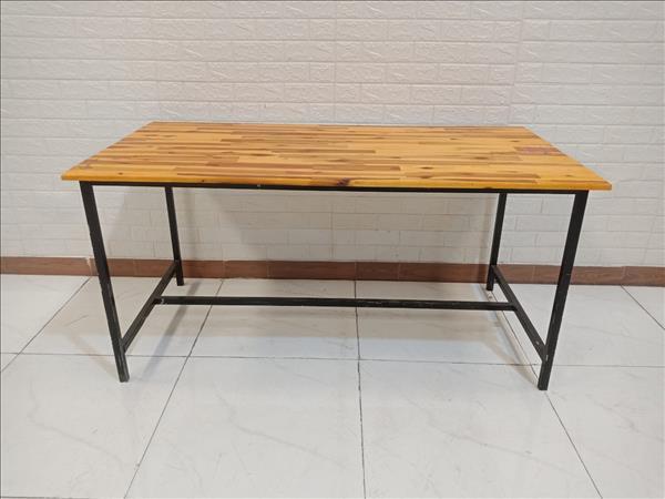Bàn ăn gỗ cao su cũ SP009919.1