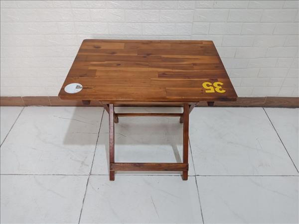 Bàn cafe gỗ cao su cũ SP009901