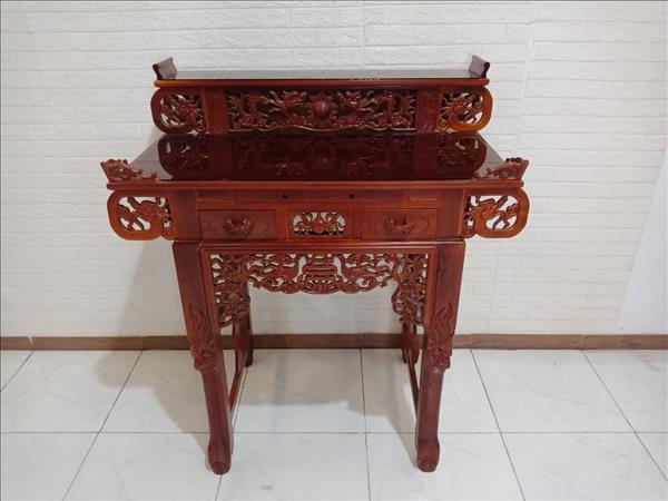 Bàn thờ gỗ Gõ đỏ cũ SP009939