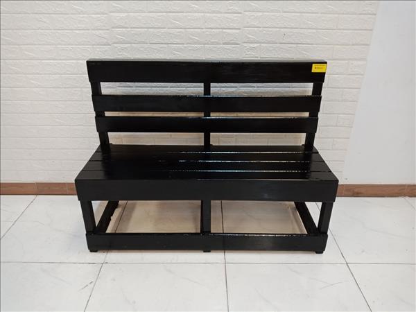 Băng ghế cafe gỗ thông cũ SP010015