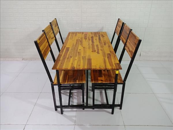Bộ bàn ăn gỗ cao su cũ SP009919