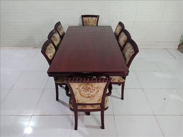 Bộ bàn ăn gỗ cũ SP009954