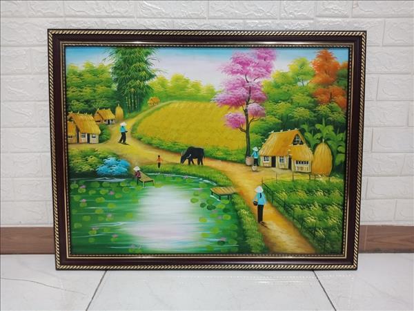 Tranh sơn dầu cũ SP010027.12