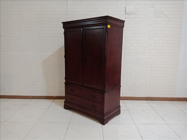 Tủ quần áo gỗ cao su cũ SP009740