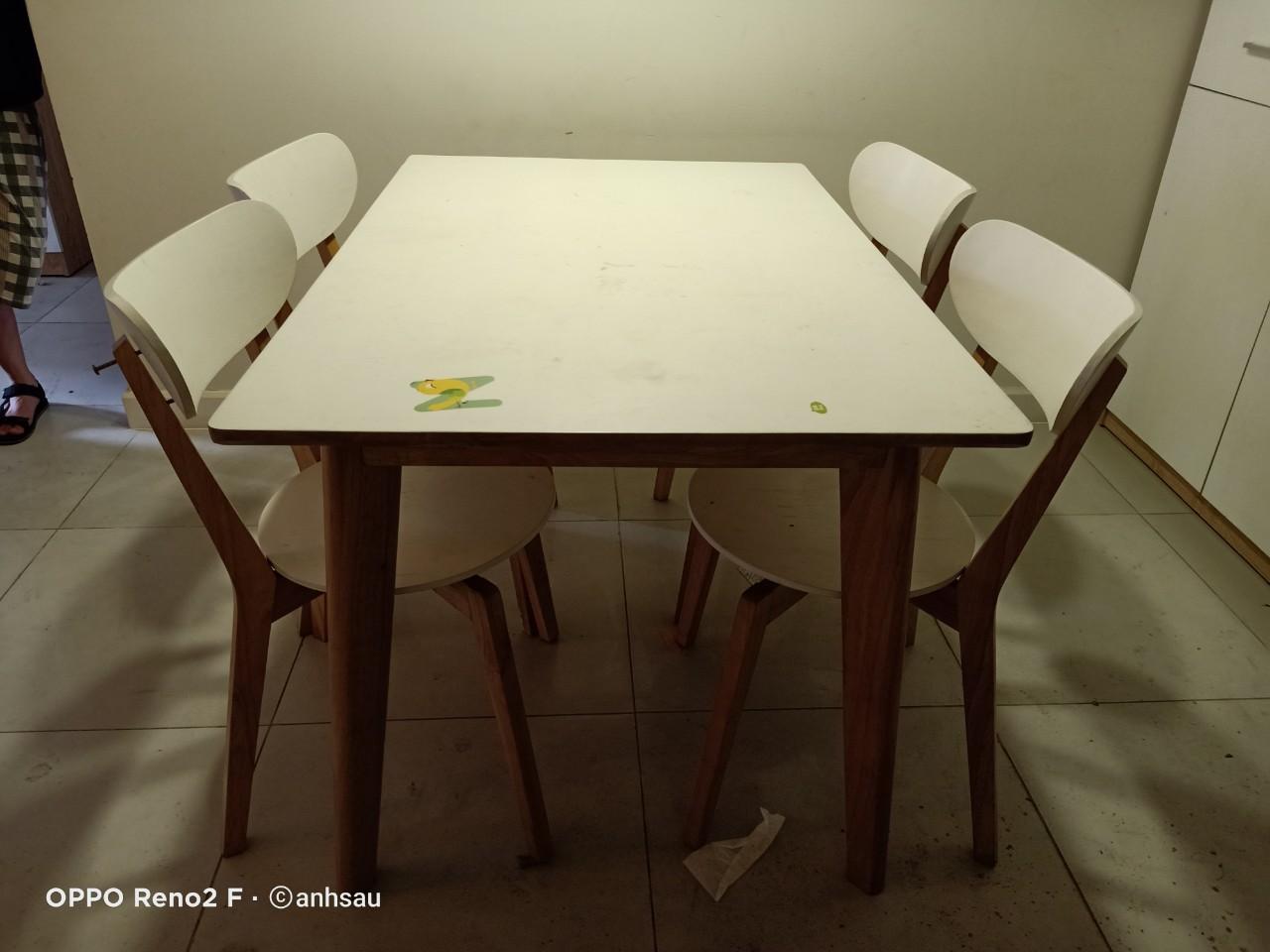 Bộ bàn ăn cũ SP014202