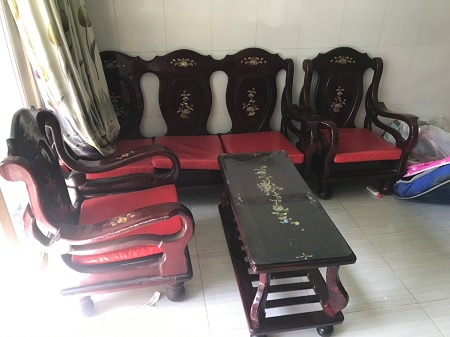 Bộ sofa gỗ tự nhiên cũ SP014158