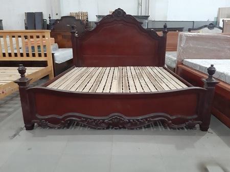 Giường  gỗ tự nhiêm cũ SP014113