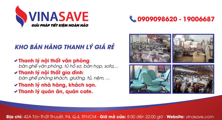 Thanh lý đồ cũ VinaSave - Giải pháp tiết kiệm hoàn hảo